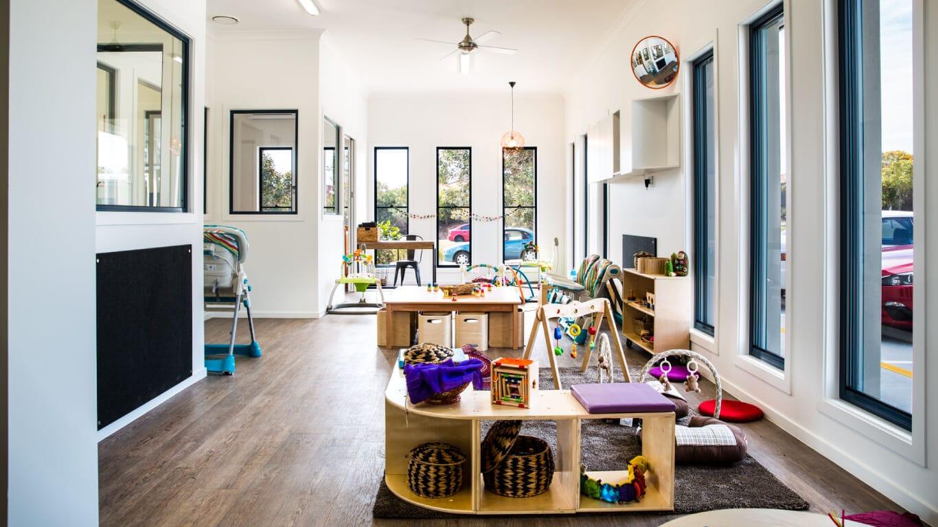 Interior photo of nursery room at Sunkids Robina