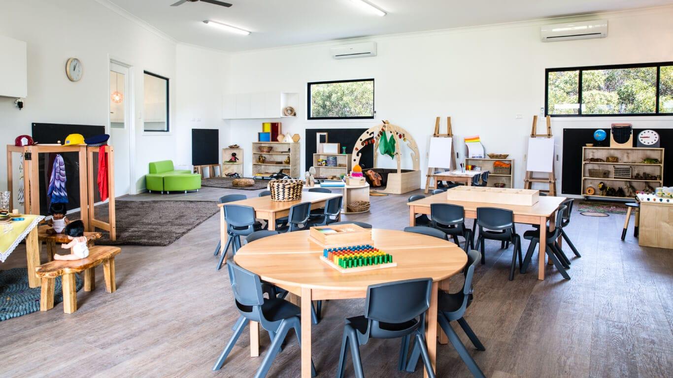 Interior shot of a classroom at Sunkids Robina
